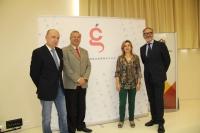De izda. a dcha., Joaquín Roses, Juan Miguel Moreno Calderón, Rosario Mérida y Antonio Pineda