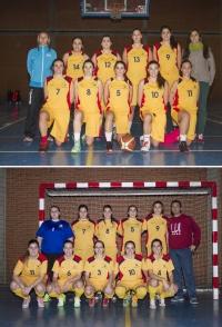 Los equipos femeninos de baloncesto y futbol sala de la UCO
