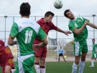 Un momento del encuentro entre los equipos de futbol de las universidades de Córdoba y Jaén