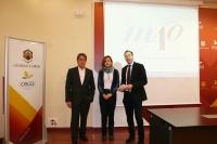 De izquierda a derecha, Juan Pastor, Rosario Mérida y Blas Sánchez en la presentación de las actividades
