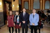 De izqda. a dcha., María García-Cano Torrico, Rosario Mérida Serrano, José Carlos Gómez Villamandos, Francisco J. Alós