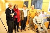 Rafael Espejo (centro), junto con los organizadores del ciclo de conferencia con motivo del Año Internacional de los Suelos en la Universidad de Córdoba