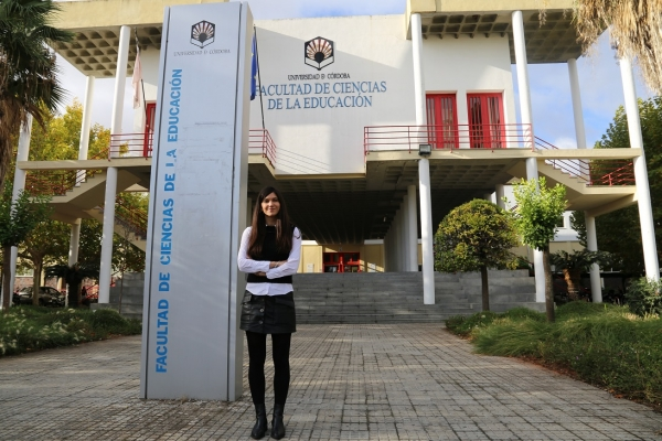 Professor Esperanza García at the Faculty of Education (University of Córdoba)