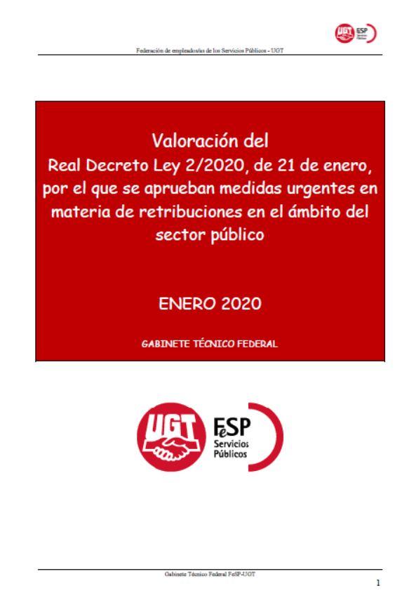 20200122 interpretacion rdl retribuciones 2020