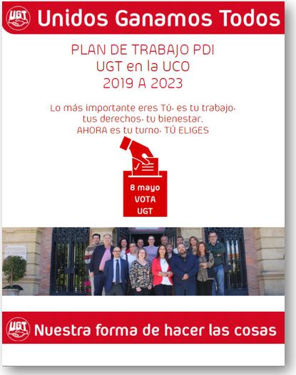 Plan de Trabajo PDI de UGT en la UCO 2019-23