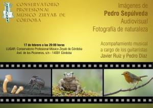Audiovisual Fotografía de Naturaleza Conservatorio Música Ziryab de Córdoba el 17 de febrero