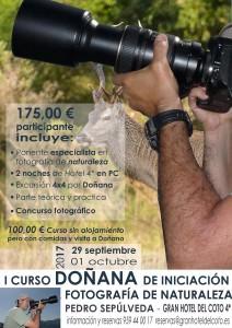 Curso de Introducción a la fografía de Naturaleza. Gran Hotel del Coto 4*. 29 de septiembre a 1 de octubre de 2017