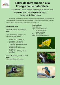 Taller de Introducción a la fotografía de naturaleza