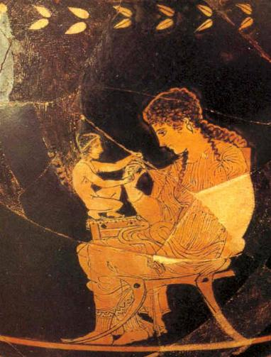 Skyphos: Afrodita y Eros (410 a.C.)