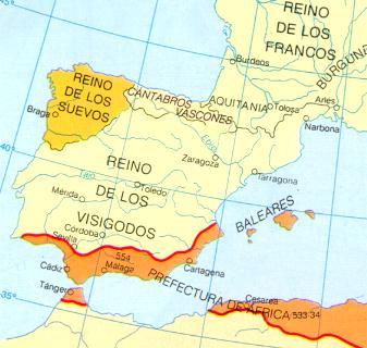 Hispania en el siglo VI