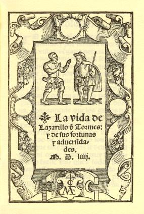 Portada del Lazarillo, 1554
