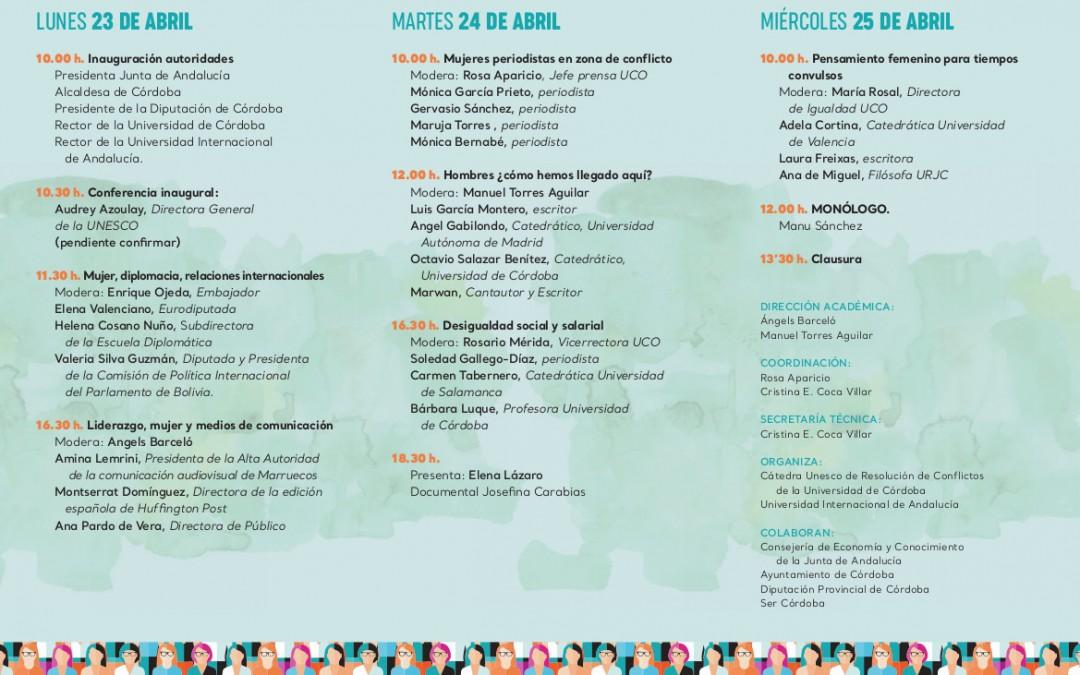 """El Congreso """"Córdoba, ciudad de encuentro y diálogo"""" se centra este año en """"Mujeres y comunicación"""""""