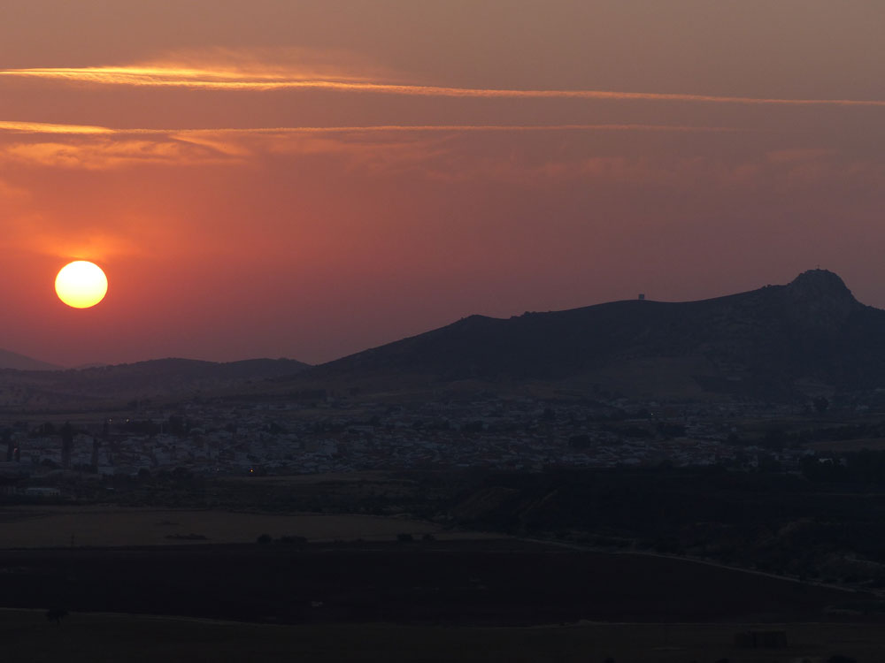 Puesta de sol desde Castillo de Belmez. ©Antonio Monterroso Checa