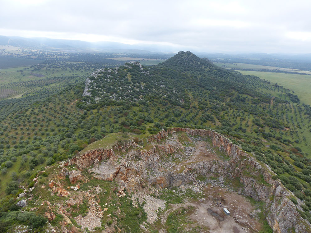 Sierra Palacios. Zona del poblamiento prehistórico ©Antonio Monterroso Checa