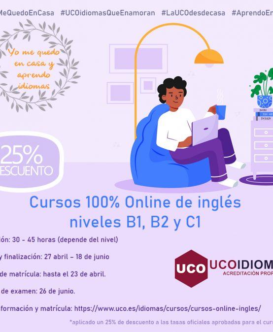 Cursos Online de inglés acreditación propia UCOIdiomas B1, B2 y C1