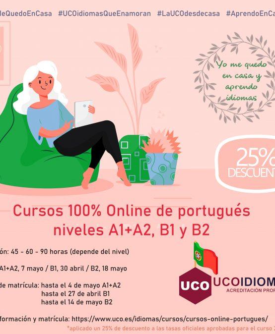 Cursos Online de portugués A1+A2,  B1