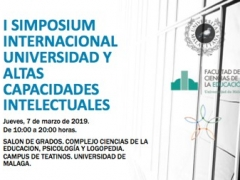 Ponencia invitada en Simposium Internacional (Málaga, 7 marzo 2019)
