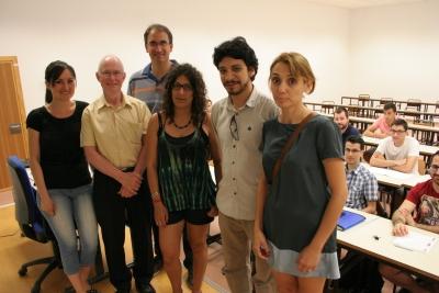 En primer término, docentes del Training Network Course del ceiA3 sobre biorrefinería