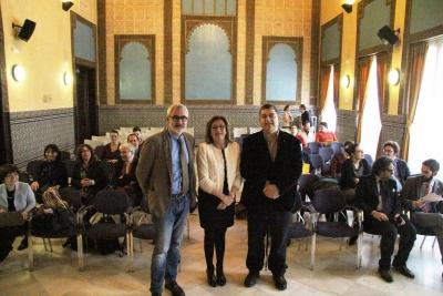 De izq. a dcha., Manuel Herrero Sánchez, Julieta Mérida García y Enrique Soria Mesa