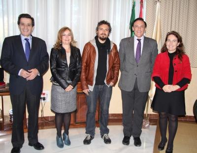 De izquierda a derecha, Manuel Blázquez, Rosario Mérida, Paco Acedo, José Carlos Gómez Villamandos y Carmen Tabernero