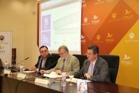 De izq. a dcha.Eduardo Ortega, Jose Manuel Roldán y Jose Manuel Ureña