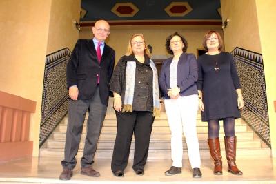 De izquierda a derecha, José Viña, Lina Badimon, María Teresa Roldán y Francisca Sánchez