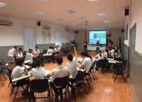Imagen de uno de los talleres celebrado en un colegio de la capital.