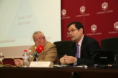 Enrique Aguilar y Alberto Marina en la presentación del Congreso