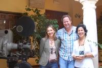 De izquierda a derecha, Carmen Blanco, Gerardo Olivares y May Silva