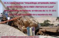 El arqueólogo Lopez Marcos analiza su experiencia vital en Filosofía