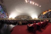Un aspecto del salón de actos durante la ceremonia