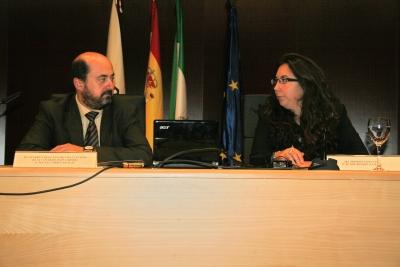 Manuel Torres y Mª José Romero en el acto de inauguración de las jornadas