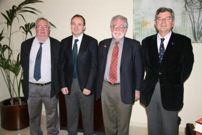 De izquierda a dcha. Enrique Aguilar, Felipe Garcia, Jesus Fernandez Tresguerres y Federico Garrido