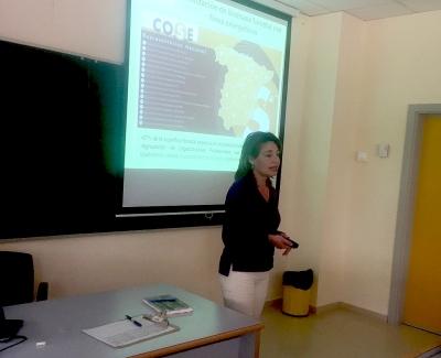 Patricia Gómez, en un momento de su intervención