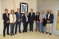 El rector y  Miguel Valcárcel junto a miembros del equipo de gobierno