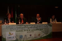 De izqda. a derecha, Isabel González, Enrique Aguilar, Juan José Ruiz y María José Polo