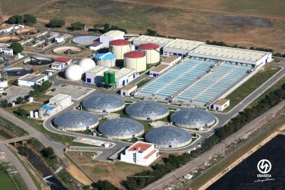 Vista aérea de una de las plantas de Emasesa