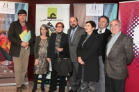 De izq a dcha, Manuel Pimentel, Aurora Salvatierra, Gema Martín, Manuel Torres, Carlota Alvarez Basso, Emilio González Ferrín y Andres Martínez Lorca.