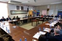 Un momento del Pleno del Consejo Social en la EPS de Belmez