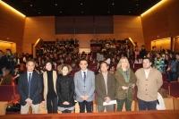 De izquierda a derecha, José Manuel Palma, Marta Domínguez, María Martínez-Atienza, Alfonso Zamorano, Alejandro Morilla, Julia Romero y Fernando Lara.