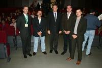 Autoridades académicas y organizadores del congreso en el Salón de Actos del Rectorado