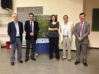 Maria Blasco con profesores de la Facultad de Ciencias