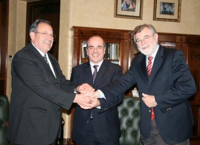 Segio Lavanchy, Francisco Triguero y José Manuel Roldán