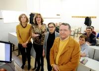 De izquierda a derecha, Ana Verdú, Julieta Mérida, Soledad Gómez y Juan Nevado