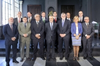 El presidente Griñan con los rectores de las universidades públicas andaluzas