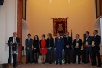 Momento de entrega de los premios a los mejores alumnos de Bachillerato