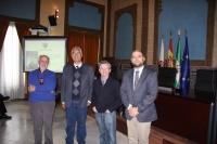 De izq. a dcha. José Esquinas Alcázar, Gilberto Aboites Manrique, Luis Miguel Martín Martín y Enrique Quesada Moraga.