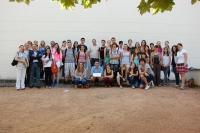 Participantes en el concurso, profesores de Veterinaria y responsables del zoo, tras la entrega de premios