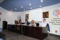 De izqda. a dcha., Mª Isabel Rodríguez, Manuel Álvarez, Mª Carmen Balbuena, Julia Muñoz y Francisco Morales