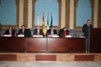 Un momento del discurso de ingreso de Anselmo Perea
